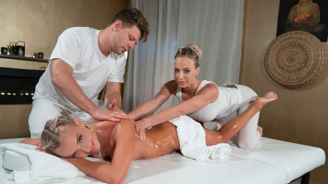 Massagerooms - Three Beasts Receive Good Sex Nathaly Cherie And Victoria Pure