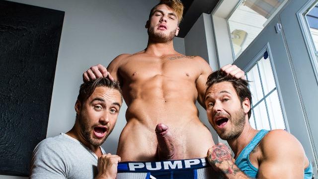 Men - The Guys Next Door Part 4  Licking And Ass Flexing Dean Stuart , Samuel Stone , William Seed , Zack Hunter