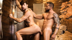 Men - Drew Dixon Leans Over And Lets Tyler Berg Slam His Thick Cock Into His Ass