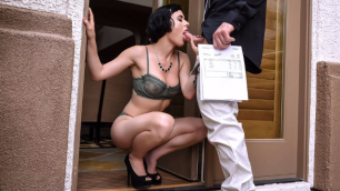 Seductive Wife Olive Glass Dick For Her Debt