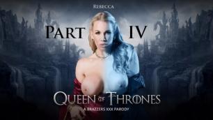 Queen Of Thrones Part 4 (A XXX Parody)  Queen Sexcei (Rebecca Moore) Dominates Her Handmaiden Ella Hughes