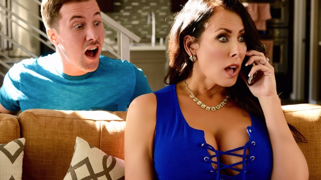 Stepson Takes Reagan Foxx's Sexy Pics To Save Her Tits