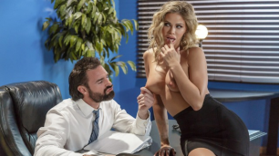 Jessa Rhodes Clears His Desk For A One-On-One Meeting In Scanner Scandal