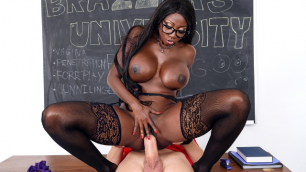 Diamond Jackson Works In The Brazzers Porn School