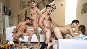 Men - Cleaning Holes With Dicks Rigid Orgy Of gays Aspen , Dalton Briggs , Roman Todd , Will Braun