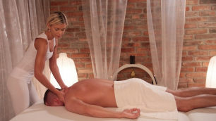 Massagerooms - Hot Blonde Babe Rides Client's Cock Lola Myluv