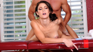 Jenni Lee Gets Amazing Massage In Stretch Pants And Pulling Groins