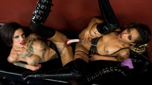 Double Dildo Dommes For Wild Bonnie Rotten And Skin Diamond