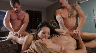 Wicked - Sinner's Ball, Scene 1 Asa Akira, Jessica Drake Foursome