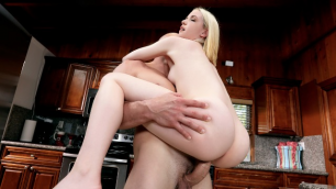 Tiny Blonde Maddie Winters Is Served Cock In The Kitchen