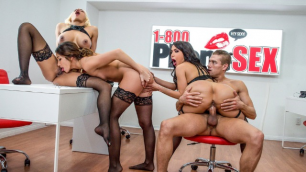 Best Sexy Operators Clea Gaultier, Lela Star And Luna Star In 1 800 Phone Sex Line 12