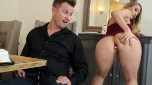 Brazzers - AJ Applegate Prepared Anal Surprise For Party