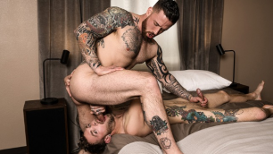 Two Hot Guys Jordan Levine And West Deene In Raw Fuck