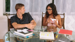Vienna Black Has Been Studying Chemistry Non-Stop In Slutty Study Time