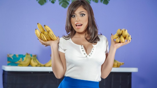 Ella Knox Moves On To Peeling Off His Pants In Busted At The Banana Shop