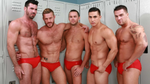 Men - Gaywatch Part 4 Group Sex Landon Conrad , Mike De Marko , Topher Di Maggio And Other