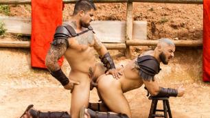 Men - Sacred Band Of Thebes Part 2 Francois Sagat And Ryan Bones Slides On Cocks