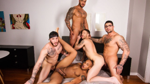 Men - By Invitation Only Kit Cohen, Ryan Bones, Trent King And William Seed Nice Orgy