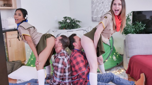 DaughterSwap - Girl Scouts Swap Dads And Fuck