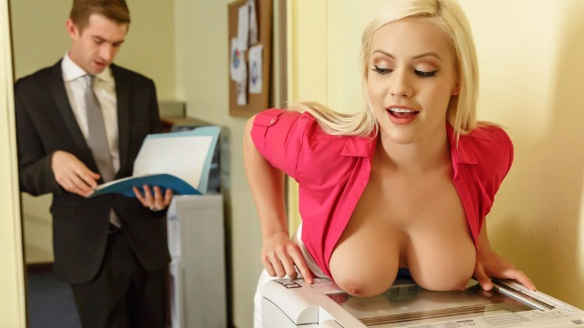 Brazzers - Horny Office Slut Kylie Page Not Safe For Work