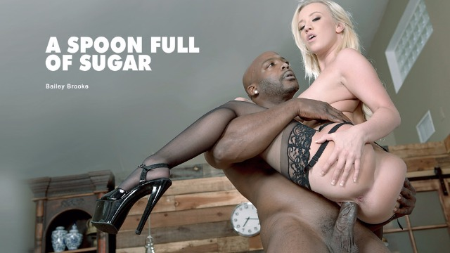 Babes - Bailey Brooke On Sexy Black Stockings Bang With BBC On The Table In A Spoon Full Of Sugar