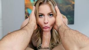 Mofos - Britney Light Sucks Man's Dick On The Run