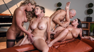 Angela White, Kagney Linn Karter And Phoenix Marie Are Comes On The Dinner For Cheats