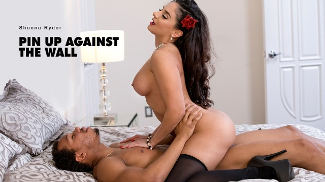 Babes - Sheena Ryder Not Feeling Beautiful Enough In Pin Up Against The Wall