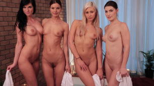 Lesbea - Epic Lesbian Foursome Group Orgy With Water And Cum Eileen Sue, Suzie Carina, Tracy Lindsay And Zena Little