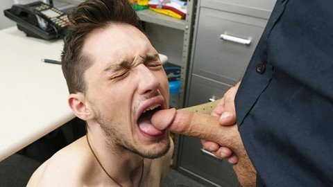 YoungPerps - Security Personnel Fucks Cute Thief Boy