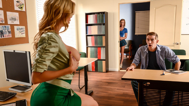 Brazzers - Alexis Fawx And Bailey Brooke Sex Education In College Dreams