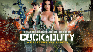 Brazzers - Busty Soldiers Jasmine Jae & Monique Alexander & Stella Cox  In Cock Of Duty: A XXX Parody