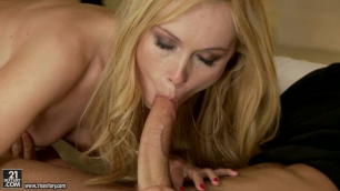 21Sextury - Perfect Blonde Lina Napoli On Sexy Black Lingerie Just Gave Him In The Ass In Enslaving Beauty