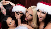 Brazzers - Ava Addams And Monique Alexander And Other Babes As Christmas Bonuses  For Guy In The Office For His Play