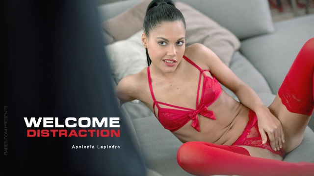 Babes - Small Brunette Apolonia Lapiedra On Sexy Red Lingerie Have Fun In Welcome Distraction