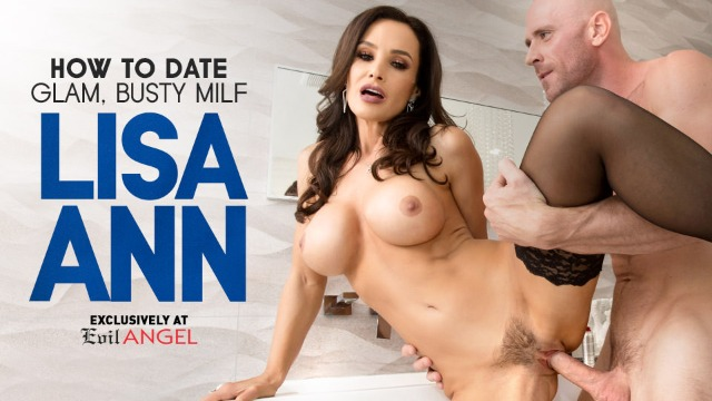 Evil Angel - How To Date Glam, Buxom MILF Lisa Ann Sucks His Big Hard-On Scene 1