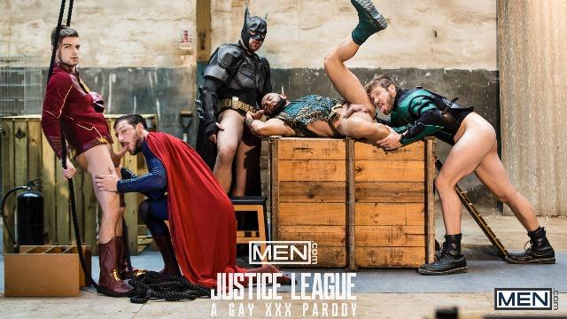 Men - The Hard Orgy Of Superheroes. (Just Dick League : A Gay XXX Parody Part 4)
