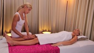 Massagerooms - Hot Lesbian Massage For Babe Lena Love And Lola Myluv