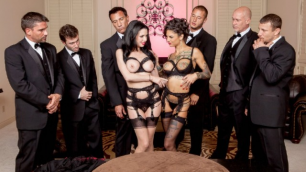 The Secret Soiree: Gangbang With Bonnie Rotte, Veronica Avluv And Six-Guys
