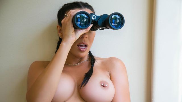 Brazzers - Rachel Starr Spying On Her Sexy Neighbor