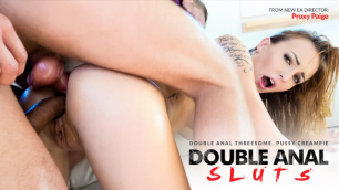 Belle Claire Gets Double Anal Threesome And Hot Pussy Creampie