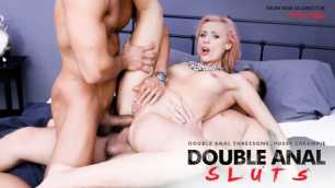 Blonde MILF Brittany Bardot Prolapses In Double-Anal 3-Way