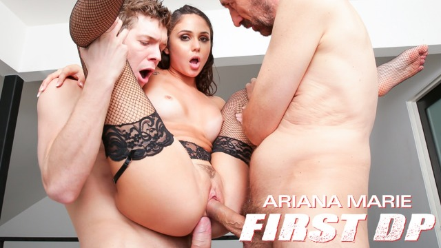 First Double Penetration Makes Ariana Marie's Gape, Scene 01