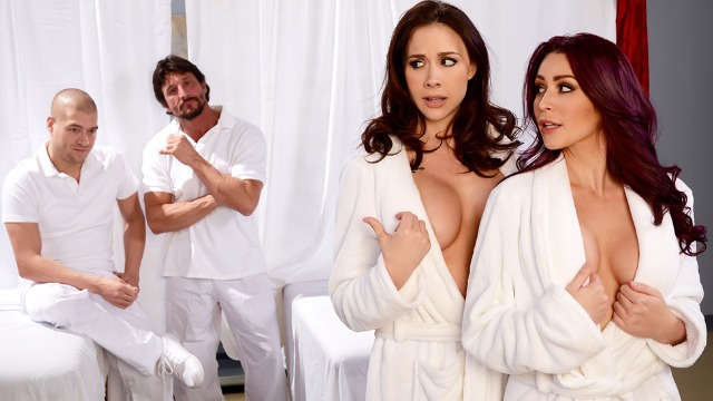 Brazzers - Chanel Preston And Monique Alexander Came For A Massage Lets Get Facials