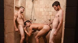 Men - Peepers Part 7 Hard Fucking In The Shower Johnny Rapid , Leo Fuentes , Noah Jones
