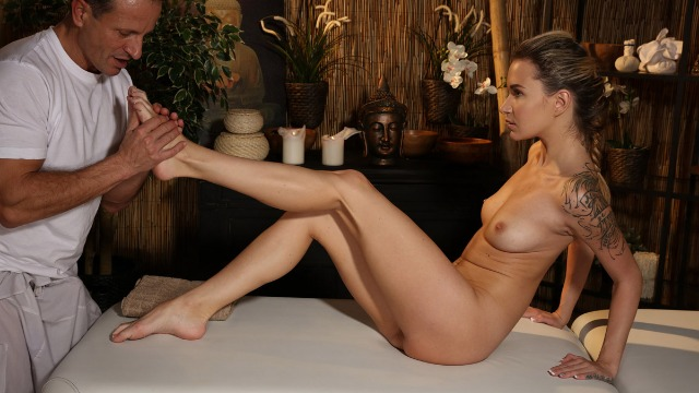 Massagerooms - Passionate Sex In Oil Angel Piaff
