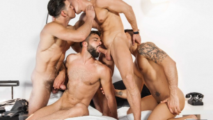 Men - The Weekend Away Part 3 Thick Hard-ons Darius Ferdynand , Hector De Silva , Klein Kerr , Paddy O'Brian