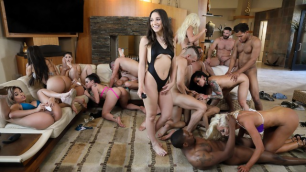 Aaliyah Hadid, Abella Danger And Other Pornstars In Brazzers House 3: Episode 3