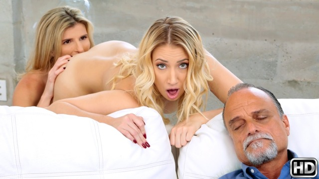 Reality Kings - Petite Lesbians Cory Chase And Sierra Nicole In Don't Wake Him