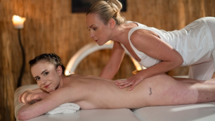 Massageroom - Small Tits Teen Oiled Snd Fucked Caroline Mann And Cristal Caitlin  Good Massage